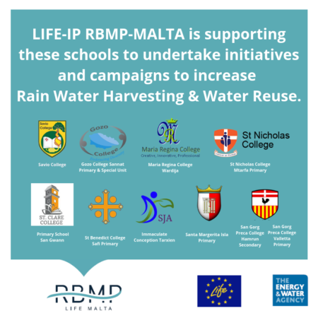 Copy of LIFE IP is supporting these schools to undertake initiatives and campaigns to increase awareness on water conservation.