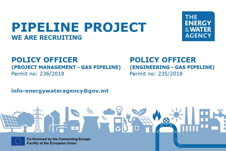 New exciting vacancies with EWA on the Gas Pipeline Project