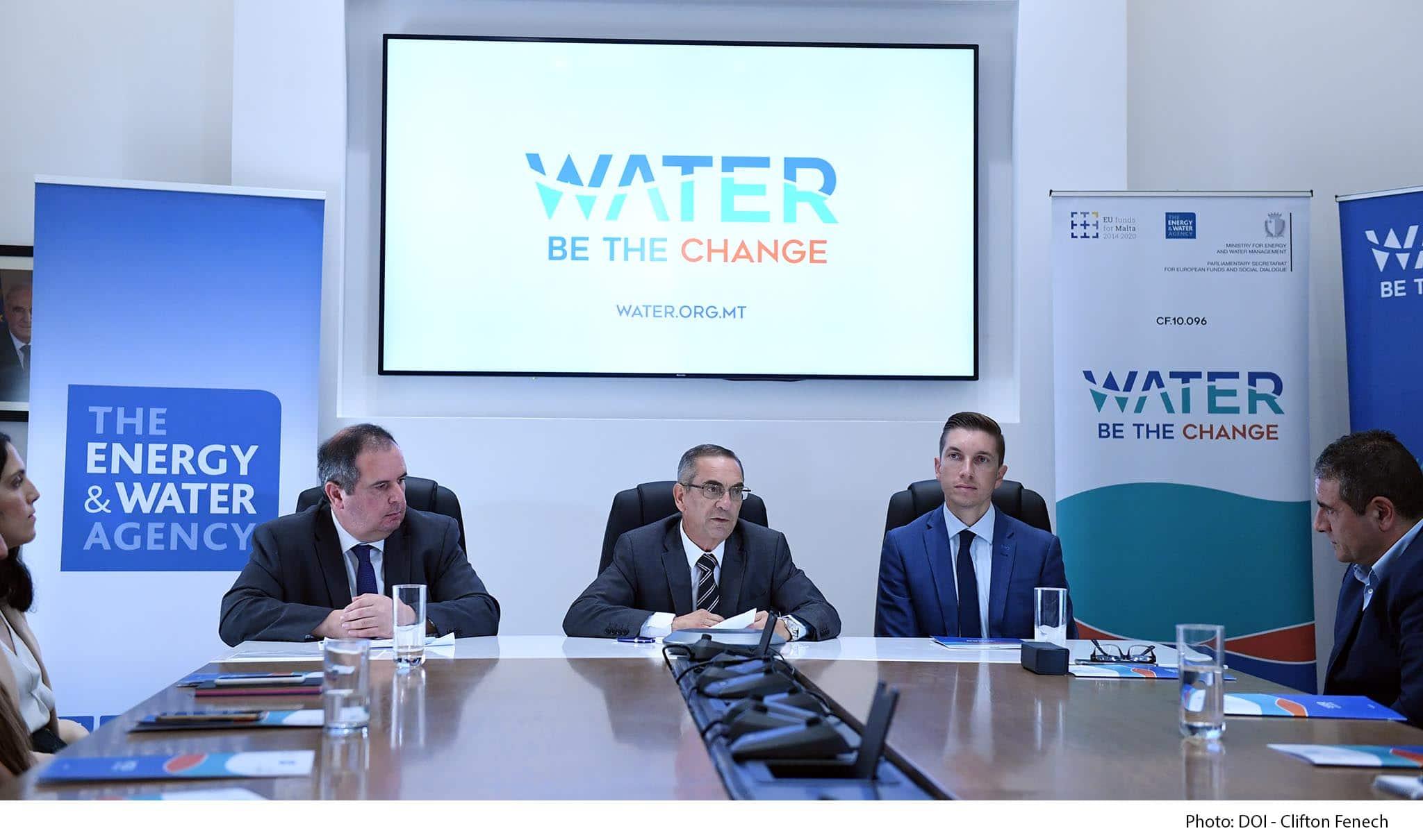 Joe Mizzi Manuel Sapiano Michael Schembri Launch water campaign