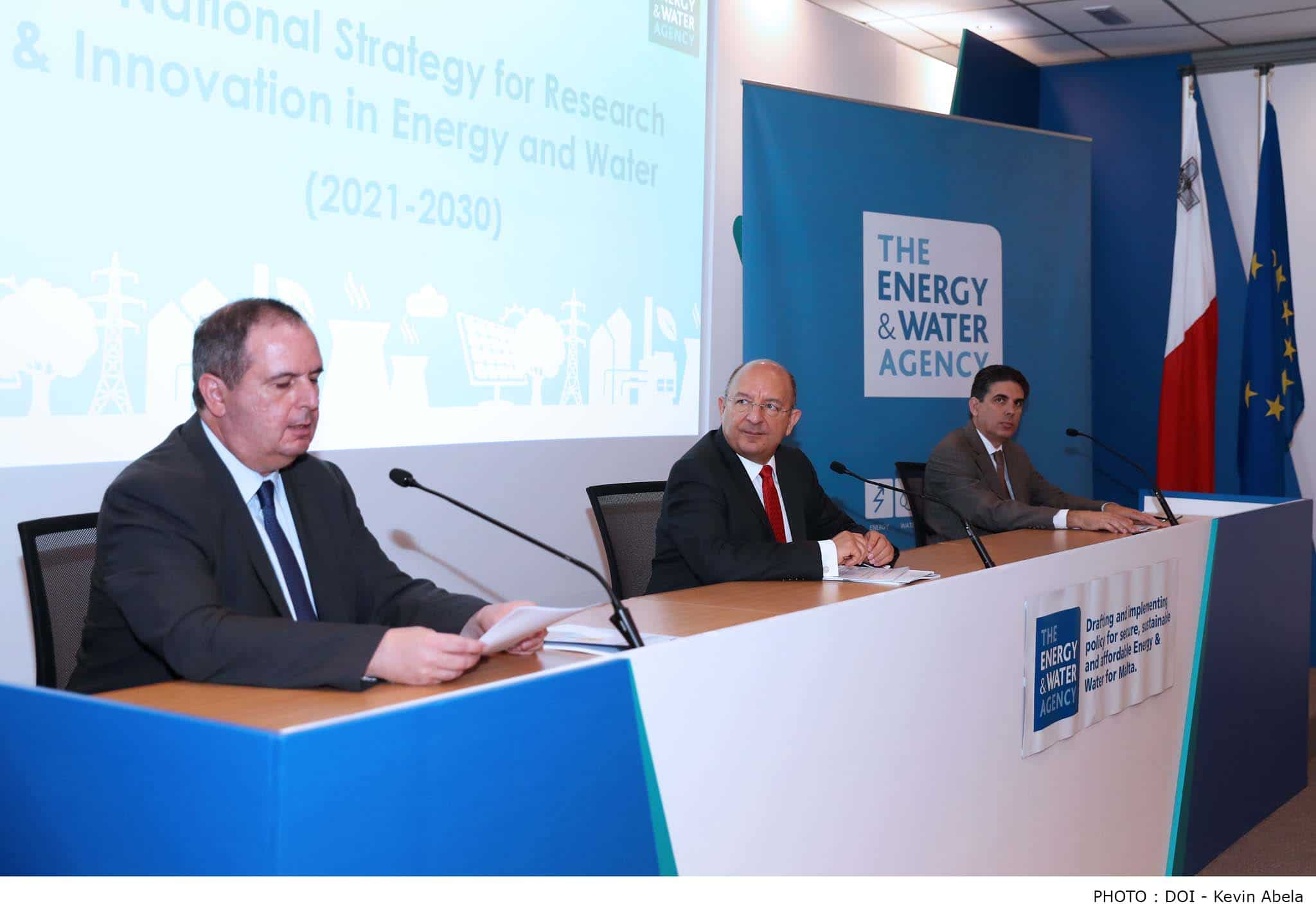 Minister for Energy and Water Management Michael Farrugia launches the National Strategy for Research and Innovation in Energy and Water 2021-2030-Energy and Water Agency, Luqa-17-6-2020